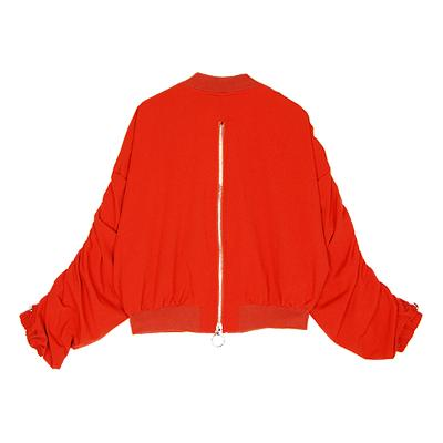 shirring jumper red